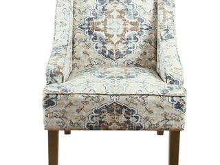 Porch   Den Holman Fabric Upholstered Swoop Armchair  Bid on 23879 for a pair