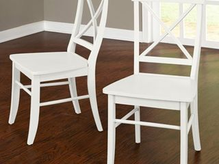 Albury X Back Chair  Set Of 2  Multiple Colors