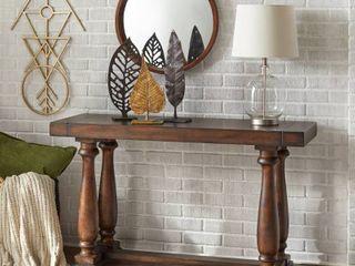 Avignon Burntwood Sofa Table Dark Oak   lifestorey