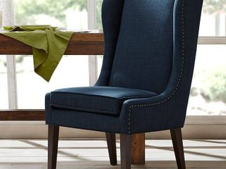 Madison Park Sydney Navy Captains Dining Chair Single   Navy   Counter Height   23 28 in