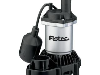 Flotec FPZS50T 1 2 HP 4200 GPH Max Flow Submersible Thermoplastic Sump Pump  Retail  149 99