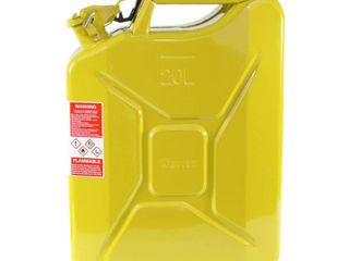 Wavian 3011 5 3 Gallon 20 liter Authentic CARB Fuel Jerry Can with Spout  Yellow  Retail  139 99