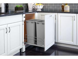 Rev A Shelf 53WC 2150SCDM 217 Double 50 Quart Pullout Soft Close Waste Container  Retail  189 99   READ
