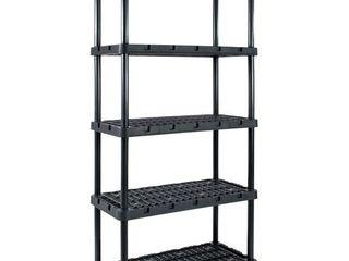 Gracious living Knect A Shelf Heavy Duty Ventilated Storage 5 Tier Shelving Unit  Retail  179 99
