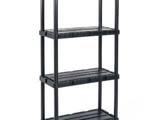 Gracious living Knect A Shelf light Duty Fixed Storage 4 Shelf Shelving Unit  Retail  73 99