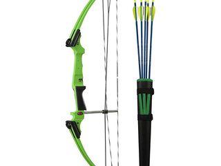 Genesis Archery Original Green Compound Target Practice Bow Kit  left Handed  Retail  269 99