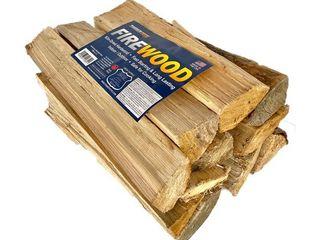 TimberTote Natural Hardwood Mix Fire log Firewood Bundle for Fireplace   Firepit 5 pieces  Retail  55 99