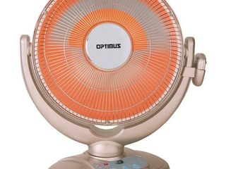 Optimus H 4438 14  Adjustable Oscillating Dish Space Heater with Remote Control  Retail  82 99