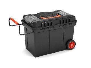 TOOD Rolling Workshop Tool Box Organizer Storage with Trays   Adjustable Handle  Retail  55 18