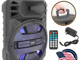 Pyle PPHP1243B 12 Inch Portable Bluetooth Karaoke System Speaker with lED lights  Retail  96 99