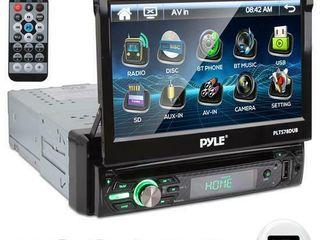 PYlE PlTS78DUB 7  TOUCH SCREEN CD DVD MP3 Car Player w USB SD AUX Receiver  Retail  239 99   READ