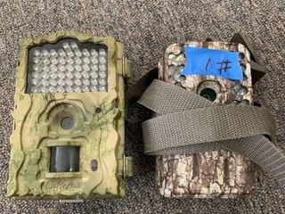 lOT  Cabela s Outfitter Plus 20MP Black IR HD Trail Camera  amp  Moultrie M 50 20MP Game Camera MCG 13271 w  20 MP Resolution  Retail  329 96