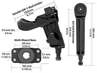 Stealth Rod Holder Dual Pivot Extension  Retail  13 99   READ