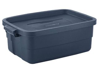 Rubbermaid Roughneck 10 Gallon Rugged Stackable Storage Tote Container 3 pck  Retail  80 00