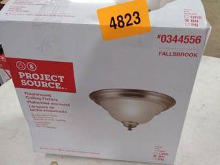 Project Source 13 in Fallsbrook Brushed Nickel Ceiling Flushmount light