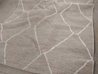 a and r neutral open weave rug 5x7