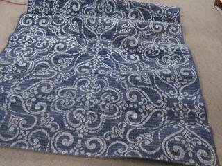 sts blue scroll rug 5x7