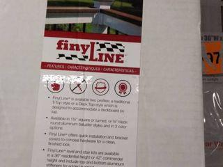 finy line fence parts white plastic