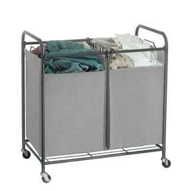 32 in x 31 125 in x 19 75 in Freestanding Metal laundry Organizer