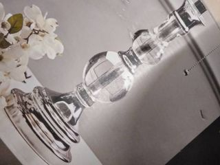 allen and roth table lamp crystal and crome finish with black shade