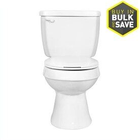 Project Source White 1 28 GPF  4 85 lPF  12 in Rough In WaterSense Round 2 Piece Toilet