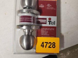 Tell Mfg Heavy Duty Empire Satin Stainless Steel Keyed Door Knob Cl500006