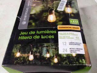 Portfolio landscape Commercial Grade lED String lights 24 Ft  Bulbs not included