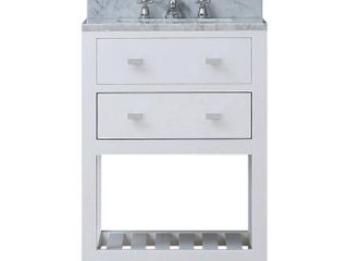 Water Creation 24W Single Sink Bathroom Vanity from the Madalyn Collection  24 Inch  Pure White
