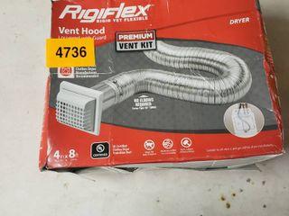 Rigiflex Vent Hood louvered with Guard Premium Vent Kit