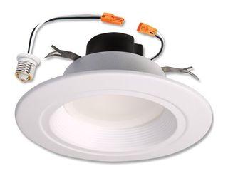 Halo Recessed lighting Rl560WH6940R 5  6  White lED Retrofit Baffle Trim Module