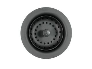 Keeney Manufacturing K5414BlK Sink Strainer with Fixed Post Basket  Black