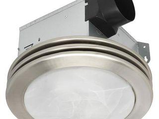 Utilitech 2 Sone 80 CFM Brushed Nickel Bathroom Fan