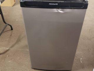 Frigidaire Black and Silver mini fridge