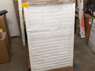 levolor in gabel white shutter 56  one only