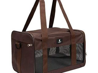 X ZONE PET Airline Approved Soft Sided Pet Travel Carrier for Dogs and Cats  Medium Cats Small Cats Carrier Dog Carrier for Small Dogs  Portable Pet Travel Carrier Brown