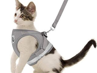 Cat Harnesses and Puppy Harness with leashes Set  Adjustable Reflective Soft Mesh Corduroy Vest Fit Puppy Kitten Rabbit Ferrets s Outdoor Harness