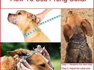 Aheasoun Dog Prong Training Collar  Stainless Steel Adjustable with Comfort Rubber Tips  Safe and Effective  large  4 0mm  23 6 Inch