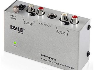 Pyle Phono Turntable Preamp   Mini Electronic Audio Stereo Phonograph Preamplifier  PP444