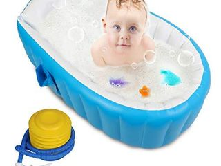 aUpgradedaBaby Inflatable Bathtub with Air Pump  FlYMEI
