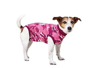 Suitical Recovery Suit Dog  XX Small  Pink Camouflage