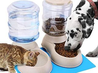 Automatic Cat Feeder and Water Dispenser for Small Medium Dog Pets Puppy Kitten Big Capacity 1 Gallon