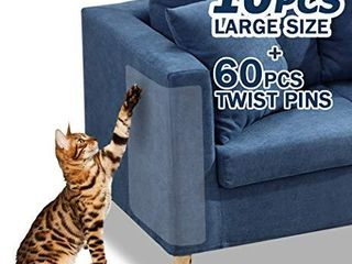 10 Pcs Furniture Protectors from Cats  Clear Self Adhesive Cat Scratch Deterrent  Size Unknown