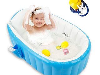 Baby Inflatable Bathtub   Blue