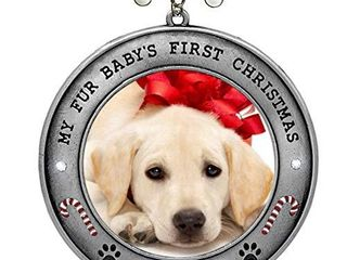 BANBERRY DESIGNS Puppy s First Christmas   2020 Dated Picture Ornament For Your Fur Baby
