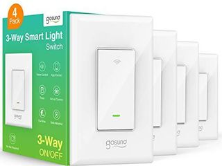 Gosund Smart Switch  3 Way WiFi light Switch Works with Alexa and Google Home  4 Pack