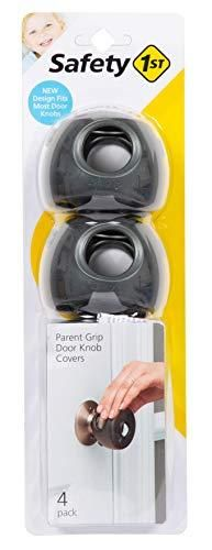 Safety 1st Parent Grip Door Knob Covers  Grey Charcoal  One Size  Pack of 4