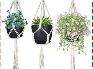 Macrame Plant Hangers  Hanging Planters Set of 3   Hanging Planters for Indoor and Outdoor Plant DAccor   Same Size