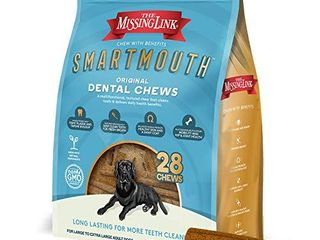 The Missing link Smartmouth Dental Chew   large Extra large Dog 28 Count