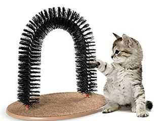 AikoPets Cat Arch Self Groomer Massager Groom Toy Dog Brushes Pet Puppy Cat Scratcher