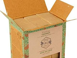 Crate 61 Coconut Soap 3 pack  100  Vegan Cold Process  scented with premium food grade organic flavors  for men and women  face and body  ISO 9001 certified manufacturer